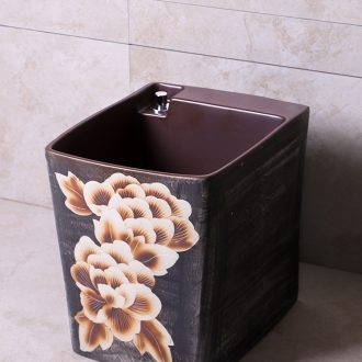 Separate ChiFang ceramic topaz bucket bath sink basin rinse mop pool of yard is suing the mop pool