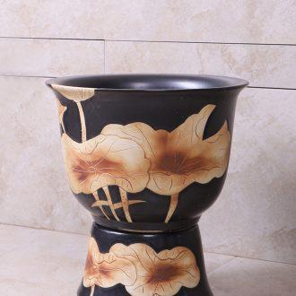 Restoring ancient ways of household ceramic wash mop pool floor toilet mop pool art garden balcony large mop pool