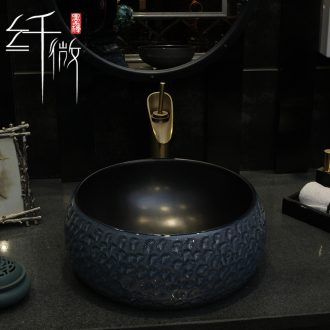 Industrial wind on the ceramic bowl round Chinese art basin sink basin toilet lavatory basin of wash one