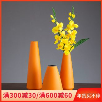 Jingdezhen ceramic vase furnishing articles creative contracted home sitting room dry flower arranging flowers adornment ins European - style decoration