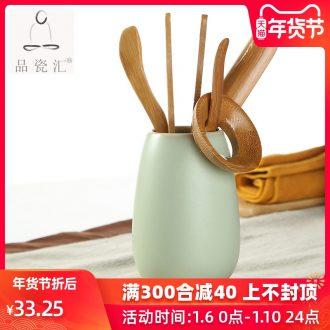 Article 6 gentleman variable glaze porcelain sink ceramic tea bamboo your up tea tea tea accessories ChaGa tea spoon