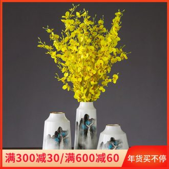 I and contracted ceramic flower vase continental creative living room white dried flowers, Nordic home furnishing articles