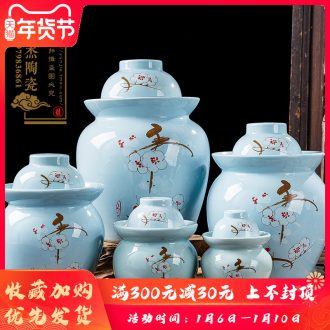The Pickle jar ceramic household pickling storage sealed small jar of pickles pickled jingdezhen seal pot in sichuan province