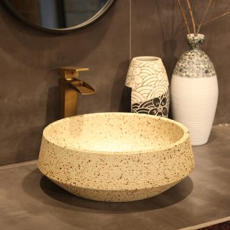 Ling yu jingdezhen basin on European archaize ceramic art sink basin of Chinese style originality of rain flower stones