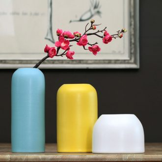 Chinese ceramic dry flower vase furnishing articles table household flower arranging flower implement I and contracted creative home sitting room adornment