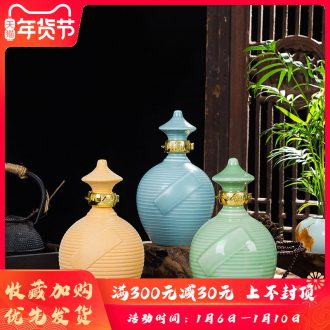 1 kg pack of jingdezhen ceramic bottle 1 catty scarecrow ceramic decoration liquor packaging wine jugs hip flask jars