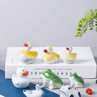 Fish aquarium decorative landscape small place jingdezhen ceramic home lovely Fish floating desktop creative product