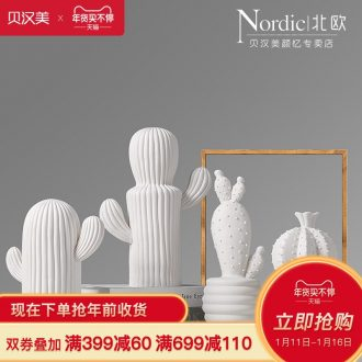 The Nordic idea ceramic furnishing articles cactus I and contracted sitting room porch wine soft adornment ornament TV ark
