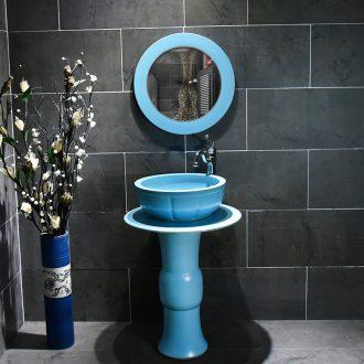 Ceramic lavatory basin blue sink pillar landing one toilet idea sink basin basin