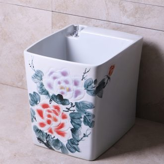 New Chinese style mop pool and separate pool mop pool pool of dirty water rinse mop ceramic balcony tray