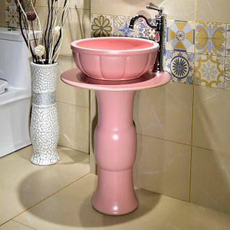Jingdezhen ceramic lavatory floor is suing the column basin bathroom sink basin art for wash basin