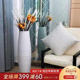 I and contracted sitting room ground ceramic produce in flower arranging flowers, jingdezhen ceramic vases, decorative flower art furnishing articles