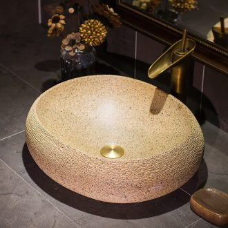 Art basin on its oval ceramic lavatory toilet stage basin on restoring ancient ways is the sink of household contracted