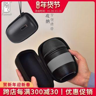 Tao fan travel tea set coarse pottery crack cup a pot of a ceramic teapot teacup combination travel bag