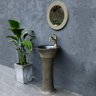 Pillar lavabo basin sinks ceramic household bathroom is suing vertical column basin balcony landing
