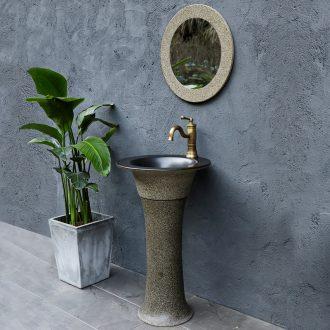 Pillar lavabo basin sinks ceramic household bathroom is suing vertical column basin balcony landing