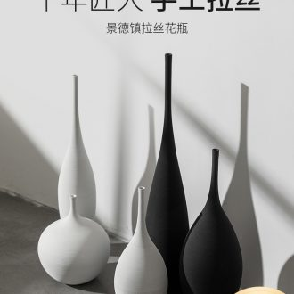Nordic contracted creative hand drawing vase furnishing articles example room sitting room jingdezhen ceramic flower implement suits for