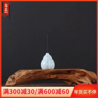 Creative manual cigarette lotus joss stick inserted zen point incense incense holder, ceramic household scented tea taking furnishing articles