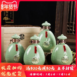 Ceramic bottle decoration ideas 1 catty put empty bottles household seal make Chinese liquor wine jar jar pot of furnishing articles
