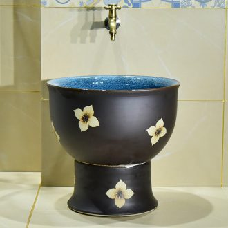 Jingdezhen ceramic glaze dark just mop pool home antique art restoring ancient ways is the balcony toilet easy mop pool