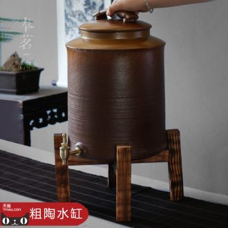 Serve tea crude after variable glaze rock, mud tank with large leading ceramic large water storage tank of household water purifiers