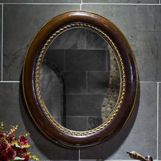 New ceramic small waterproof and durable cosmetic mirror hanging American toilet toilet glass bathroom mirror in the bathroom mirror