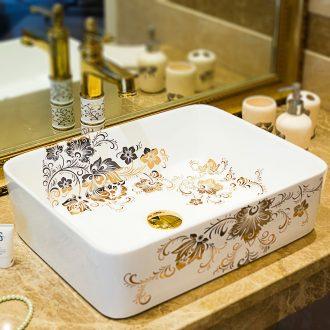 Ceramic basin basin European - style lavabo stage basin of household toilet wash basin rectangular art basin