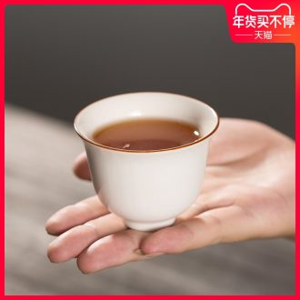 Japanese small ceramic cups domestic tea cup sample tea cup of pure white hat cup master cup kung fu tea set