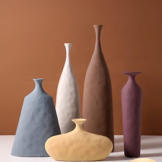 Nordic art element embryo ceramic vase geometrical irregular texture creative handicraft furnishing articles morandi example room