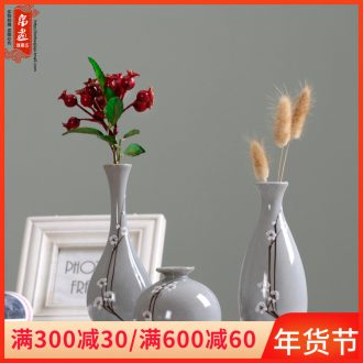 Floret bottle creative living room flower flower implement ceramic dry flower vases, furnishing articles contracted and I household adornment
