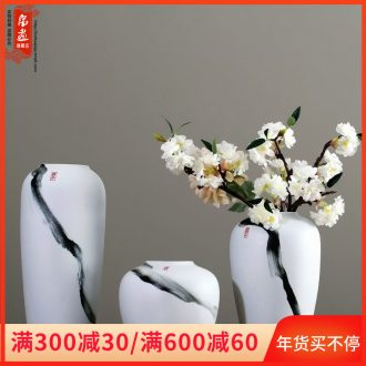 The Vases, ceramic dry flower decorations furnishing articles table household creative Chinese style is I and contracted sitting room ground flower arrangement