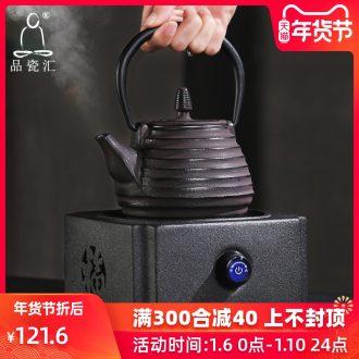 The Product electric porcelain remit TaoLu home cooked tea stove mini small cast iron tea pot, kettle black ceramic teapot suits for