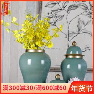 Jingdezhen ceramic vases, general tank temperature manual household decorates sitting room crafts paint flower arranging furnishing articles