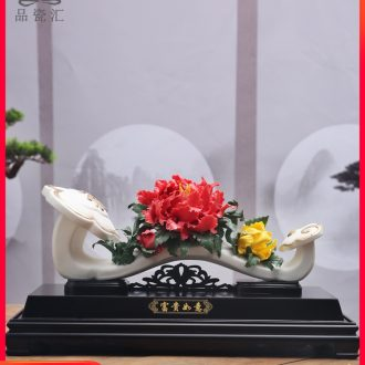 The Product porcelain sink ceramic pinch flower furnishing articles rich flexibly white porcelain art version into the sitting room porch opening gifts