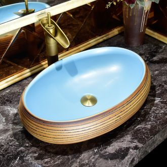 On the ceramic basin bathroom sinks European - style lavabo oval basin balcony for wash basin household contracted