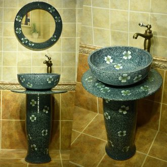 The Lavatory basin one pillar lavabo ceramic bathroom sink basin to Taiwan one ceramic column