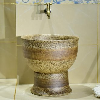 Jingdezhen ceramic its art restoring ancient ways is the balcony toilet line mop pool household archaize easy mop pool