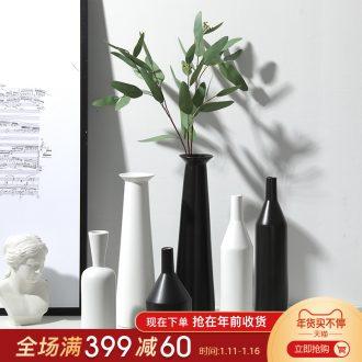 Japanese zen ceramic simulation flower vase furnishing articles manual creative contracted sitting room dry flower, flower vases, furnishing articles