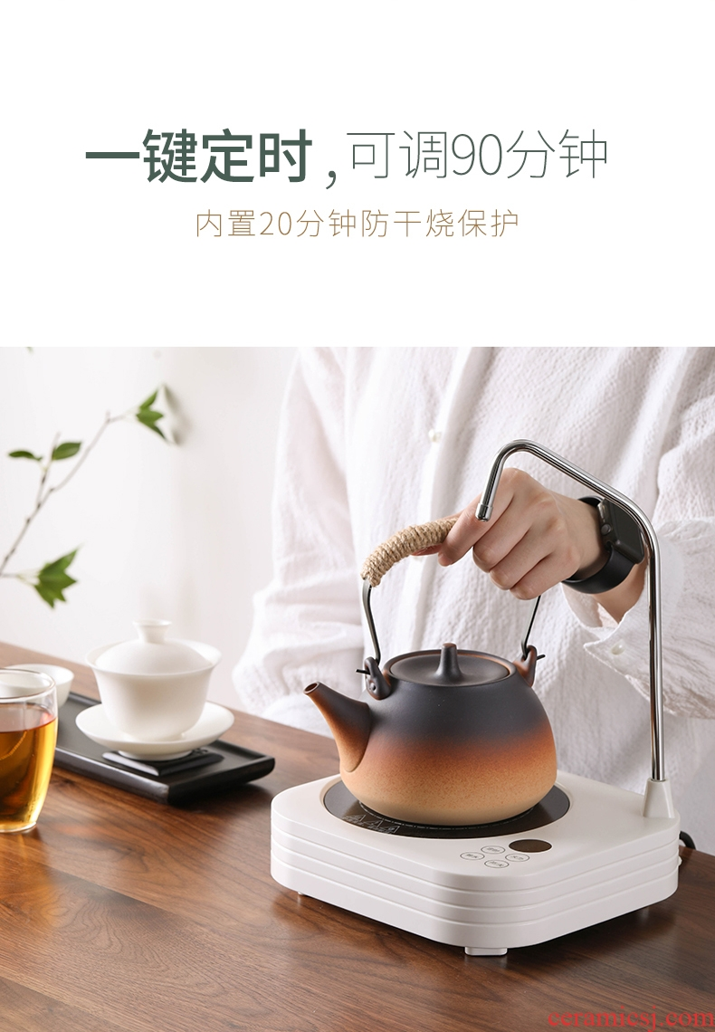 Household electrical TaoLu fire ceramic coarse pottery tea kettle boiling kettle girder pot of tea stove suit with water