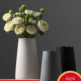 The modern ceramic vase furnishing articles arranging flowers, artificial flowers, sitting room, TV ark, sitting room adornment is placed dry flower vase