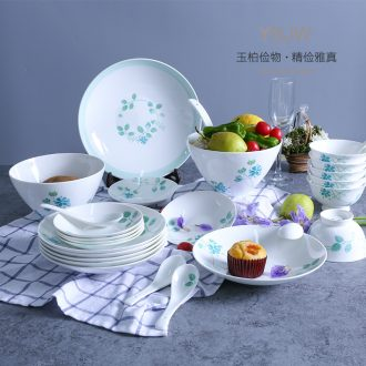 Jade cypress jingdezhen ceramic tableware ceramic bowl rainbow such as bowl gift box packaging family suits for the sprawling package mail