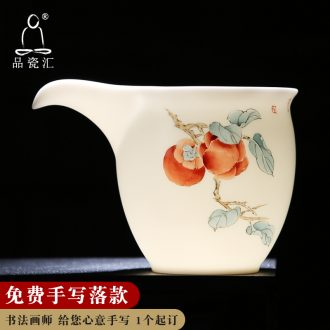 Fair quality porcelain sink ceramic cup pure manual hand - made white porcelain tea sea household device and a cup of tea kungfu tea accessories