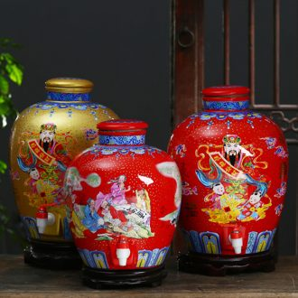 Jingdezhen ceramic bottle wine jar 20 jins 30 jins home an empty bottle mercifully it hip sealed jar