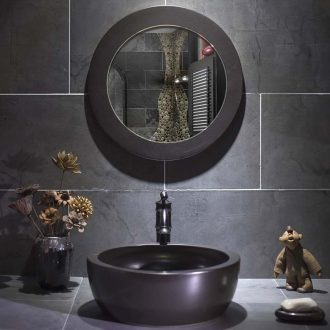 Black antique metal glaze art stage basin sink toilet bowl lavatory household ceramic wash basin