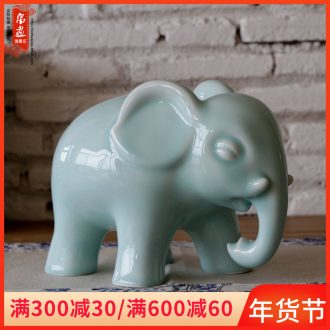 Jingdezhen ceramics as furnishing articles monkey celadon manual household contracted sitting room of modern study porch decoration decoration