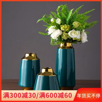 Nordic vase contracted dry flower arranging flowers adornment household living room furnishings jingdezhen ceramic light key-2 luxury furnishing articles flowers