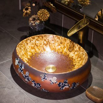 Jingdezhen fashionable restore ancient ways the balcony sink archaize ceramic stage basin bathroom basin is the basin that wash a face hands pool