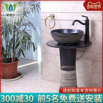 Pillar basin of ceramic sanitary ware has one - piece basin of is suing household balcony sink the lavatory toilet lavabo, restoring ancient ways