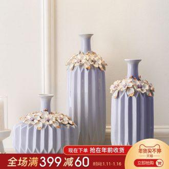 European suit American purple ceramic vase sitting room adornment of modern creative wine TV ark, furnishing articles