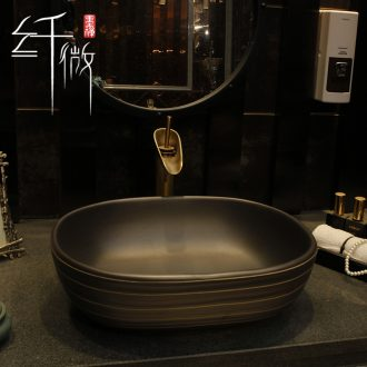 On the ceramic basin On the square balcony lavatory toilet lavabo elliptical basin basin of the basin that wash a face